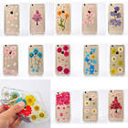 1x Tuff Dried Pressed Real Flowers TPU Anti Dust Plug Back Case Cover For Phones