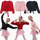 Girl Ballet Dance Knit Wrap Sweaters Gymnastics Costume Skate Dress Costume 3-12