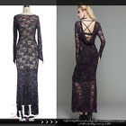 gothic victorian Astacia nightmare See through breezy lace maxi dress【SKT03203】
