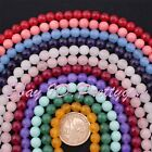 "8mm Faceted Round Jade Gemstone Loose Beads Strand 15"" For DIY Jewelry Making"