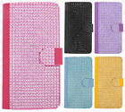 For LG G Stylo Premium Bling Diamond Wallet Case Flip Pouch Cover +Screen Guard