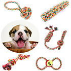 1x Chew Toy with Knot Fun Tough Strong Puppy Dog Pet Tug War Play Cotton Rope
