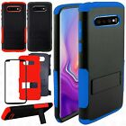 For Alcatel Idol 4 Rubber IMPACT TRI HYBRID Case Skin Phone Cover Accessory