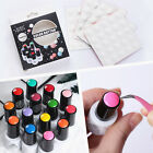 Color Button UV Gel Polish Display Silicone Adhesive Label Sticker