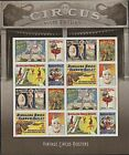 US Stamps #4898-4905 - 2014 - Vintage Circus Posters - sheet of 16 - MNH - B6472