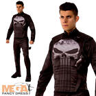 Deluxe Punisher Men's Fancy Dress Marvel Comics Movie Character Adults Costume