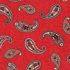 SUBTLE CHARM RED PAISLEY CHOICE FABRIC QUILT SEWING CRAFT FREE OZ POST **