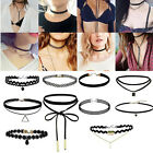 10Pcs/Set Fashion Gothic Punk Velvet Tattoo Lace Choker Collar Pendant Necklace