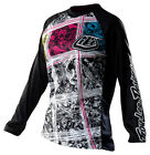 NEW TROY LEE DESIGNS TLD WOMENS GIRLS REV DIRT BIKE JERSEY BLACK SIZE SMALL S