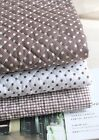 Dandy Brown Ready quilted Fabric Cotton blend Dots Pre-quilted padded (fQ268)
