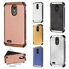 LG Stylo 3 IMPACT HYBRID Plating Protector Case Skin Phone Cover + Screen Guard