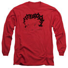 Betty Boop Cartoon Word Hair Adult Long Sleeve T-Shirt Tee $27.95 USD