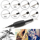 1/5Pcs Sterile Disposable Tattoo Needle Tube Grip Tip RL RS Silicone Handle 19mm