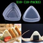 10pcs Triangle Form Sushi Mold Onigiri Rice Ball Bento Press Maker Mould Tools