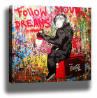 MR BRAINWASH FOLLOW YOUR DREAMS CANVAS PRINT
