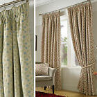 Traditional Floral Jacquard Pencil Pleat Lined Curtains in Rich Tapestry Pattern