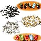 100 pcs Punk Style Metal 3D Nail Art Metallic Studs Rivets Manicure Decor DZ88