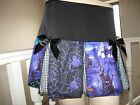 New Black Purple blue Hauntingly Webs Graveyard check Halloween Skirt Party Goth