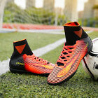 Men's High Top PU Soccer Shoes Trainer Cleats Fire Fashion Football Shoes Rubber