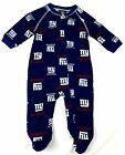 New York Giants Infant Coverall NFL Football Baby Full Footed Sleeper Pajamas