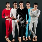 Men's Cotton Slim Fit Top Tank T-Shirt+Legging Underwear Soft Casual Set CA