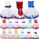 Petals Flower Girls Princess Sash Pageant Party Wedding Dress Birthday Communion