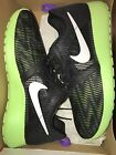 Nike Roshe One Flight Weight Black/White-Ghost Grn Grape 705486 003 4.5 7 GS