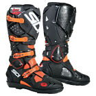 NEW SIDI CROSSFIRE 2 SRS MX DIRTBIKE OFFROAD BOOTS BLACK/FLO ORANGE ALL SIZES