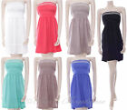 New La Live Ladies Strapless Summer Dress Sequin Embroidery One Size