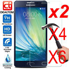 6X 9H+ Tempered Glass Screen Protector For Samsung Galaxy A3 A5 A7 2016 / 2017