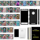 For Nokia Lumia 830 Slim Fitted Snap On Case Unique Designs + Stylus Pen