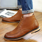 New British Men's Casual Suede High Top Loafers Leather Ankle Boots Shoes