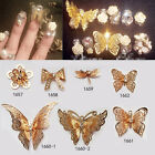 1Pc Gold Butterfly 3D Nail Art Decoration Luxurious Hollow Style Manicure DIY