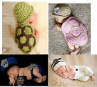 Newborn Baby Girls Crochet Rabbit Police Hat&Pants Photography Photo Prop Toy