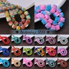 6mm/8mm/10mm Colorful Coated Cube Square Faceted Loose Opaque Glass Spacer Beads