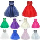 Communion Flower Girl Sequined Princess Kid Pageant Wedding Birthday Party Dress