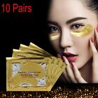 1-10 Pairs Gold Eye Collagen Aging Wrinkle Under Crystal Gel Patch Anti Mask NEW