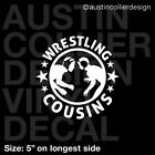 WRESTLING COUSINS Vinyl Decal Car Truck Window Laptop Sticker - Team Olympic