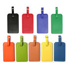 2pcs Travel Luggage Tags PU Leather Suitcase Baggage Bag Name Address ID Labels
