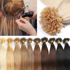 AAA+ 100% Real Remy Human Hair Extensions Pre-bonded U Tip Keratin Glue UK A048