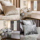 LUXURY STYLISH CRUSHED VELVET FILLED BOUDOIR CUSHION NATURAL CREAM SILVER GREY