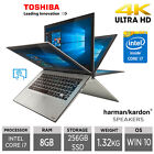 "Toshiba Radius P20w-c 12.5"" 4k Touchscreen Laptop Core I7-6500u, 8gb, 256gb Ssd"