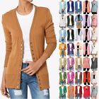 TheMogan Women's Classic Snap Button V-Neck Long Sleeve Knit Sweater Cardigan