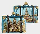 Island of Bali Travel Suitcase Polish Glass Christmas Tree Ornament Indonesia