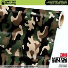 LARGE WOODLAND Camouflage Vinyl Car Wrap Camo Film Sheet Roll Adhesive