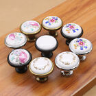 Print Flower Ceramic Cabinet Cupboard Drawer wardrobe Single Pull Handle Knob