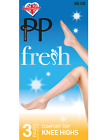 Pretty Polly Comfort Top Knee Highs - 3 Pack Fresh Comfortable Knee Highs PPGM95