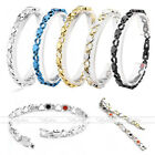 4 in 1 Steel Heart Love Magnetic Germanium Therapy Energy Health Care Bracelet