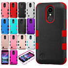 For LG K20 Plus IMPACT TUFF HYBRID Protector Case Skin Cover +Screen Protector
