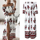Women Ladies Summer Boho Floral Beach Evening Cocktail Party Long Maxi Dress US